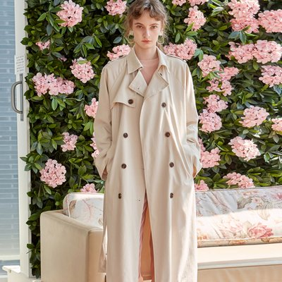 DOUBLE LONG TRENCH COAT_LIGHT BEIGE (2222648)