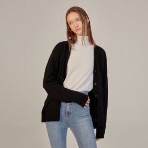CAMI CASHMERE KNIT CARDIGAN - BLACK