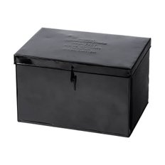 STEEL CONTAINER W/PARTITION Large Black