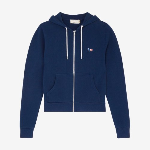 [PRE-ORDER] 20SS ZIP HOODIE TRICOLOR FOX PATCH NAVY WOMEN AW00304KM0001