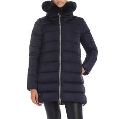 [에르노] Blue down jacket with fur collar (PI0670D 12170 9200)