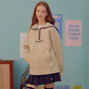 (TS-19722) FLEECE SAILOR ANORAK IVORY