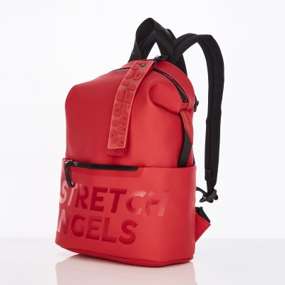 스트레치엔젤스[S.P.U] Pocket round backpack M (Red)