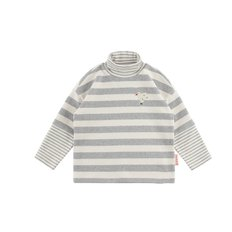 Dove multi stripe turtle-neck long sleeve tee
