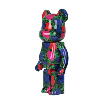 400%+100% BEARBRICK ANDY WARHOL FLOWERS