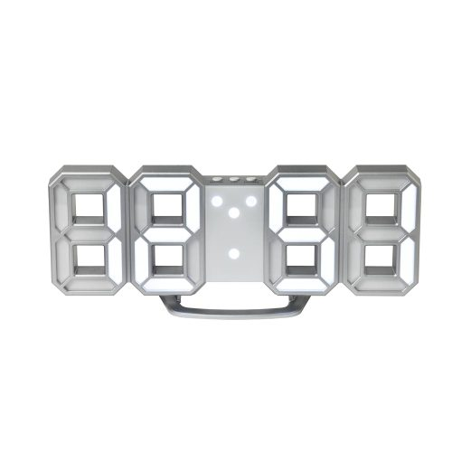 픽셀 3d LED 디지탈시계 Pixel.3D Digital Clock (Silver) 2018개선형