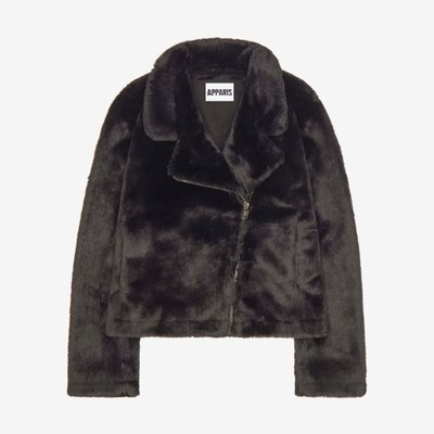 APPARIS 아파리스 TUKIO FAUX FUR BIKER JACKET BLACK F31