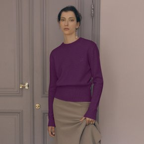 Leaf Cashmere Knit_Deep Purple