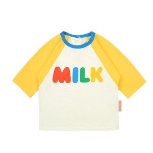 Milk baby color block three quarter tee