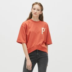 [19S/S][PLAC] WOMENS NEW V-CUTTED HEM LINE SHORT SLEEVE SWEAT SHIRTS (PWON3WSL70W0R9)