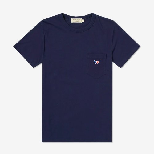 [PRE-ORDER] 19FW TEE-SHIRT TRICOLOR FOX PATCH NAVY MEN AM00102KJ0010