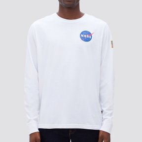 SPACE SHUTTLE LONG SLEEVE TEE WHITE