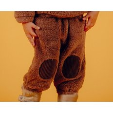 Smile bear baby boa fur pants