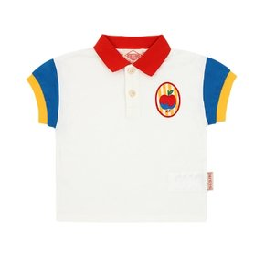 A sour apple baby color block polo tee