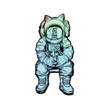 FLY 2 THE MOON Sticker A