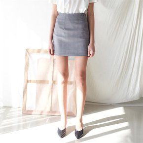 [ROSIER] 18SS slit mini skirt check (1882481)