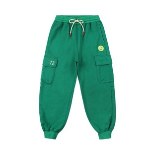 Tennis smile cargo sweat pants