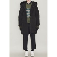 [헨리착용] raccoon fur long down jumper CWUAW18877BKX