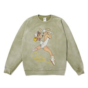 F-BUNNY SWEAT SHIRT GREEN