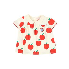 All over apple baby pique lace short sleeve tee