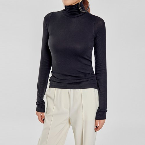 / very soft tencel turtleneck