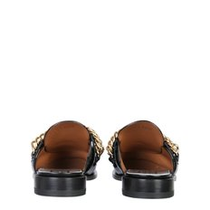 SLIPPER MOCCASINS WITH CHAIN AND LOGO   BE200UE0MV_001