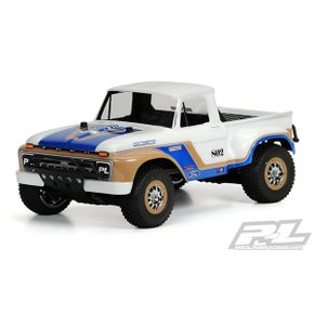 [Pro-Line Racing]AP3408 1966 Ford F-100 Clear Body for 2WD/4x4 Slash SC10 (with Pro-Line Extended Bo