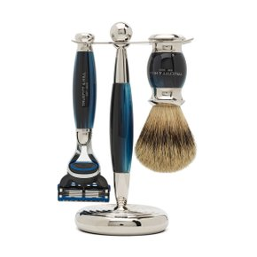 EDWARDIAN SHAVING SET Blue Opal (Fusion)