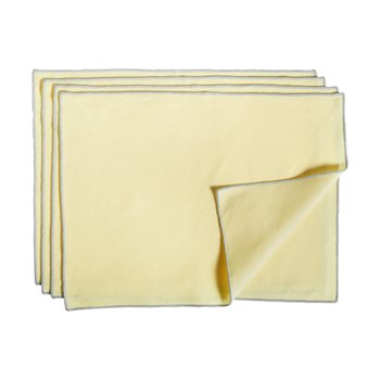CONTOUR PLACE MAT 4p, LEMON