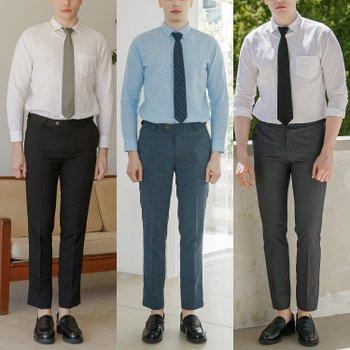 [엠필] 매직 히든 밴딩 쿨스판 정장바지 3컬러 택1