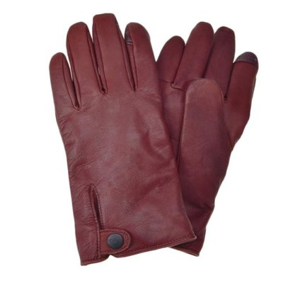 [어그]남성 TABBED SPLICE VENT LEATHER GLOVE COGNAC