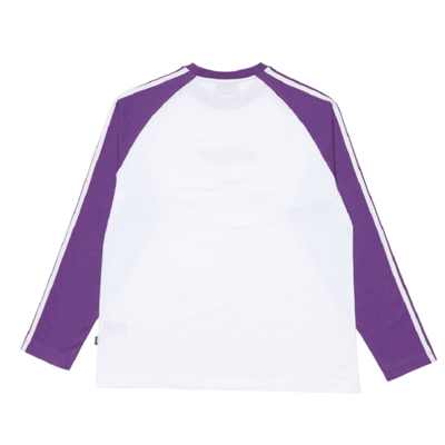 Raglan Long Sleeve T-shirt Purple