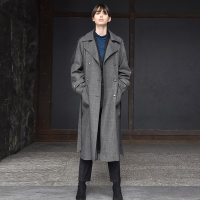 Andrea trench coat - BLACK