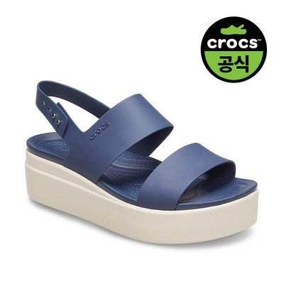 크록스공식 여성 CROCS BROOKLYN LOW WEDGE W NAVY (20SWWD206453)