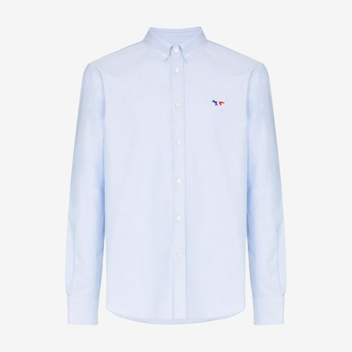 [PRE-ORDER] 20SS OXFORD TRICOLOR FOX PATCH CLASSIC SHIRT BD LIGHT BLUE MEN AM00400WC0003