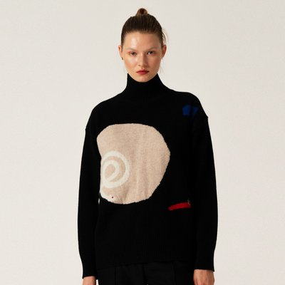 WK_Intarsia Turtleneck Top_BK