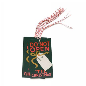 DO NOT OPEN `TIL CHRISTMAS GIFT TAG (10장)