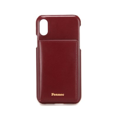 [A LAND]FENNEC LEATHER iPHONE XS POCKET CASE - WINE