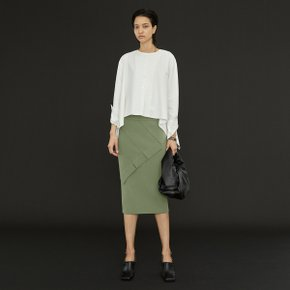 Poet Block Skirt_Desert Green