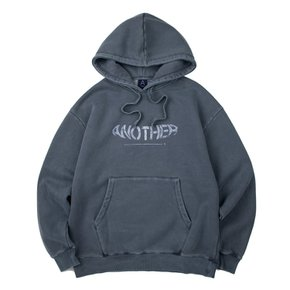 COVER STITCH PIGMENT HOODIE (BLUE)