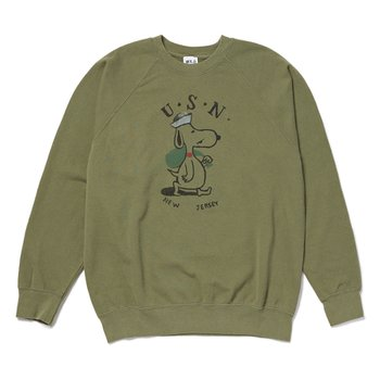 F-SNOOPY SWEAT SHIRT KHAKI