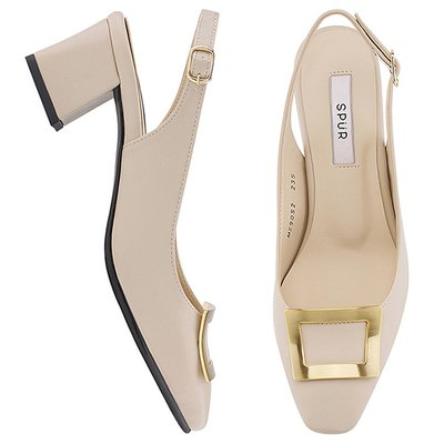 슬링백 MS9052 Bronze frame sling back 베이지