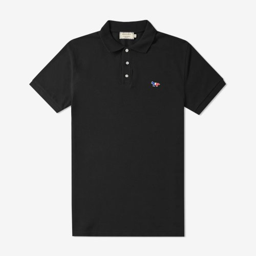 [PRE-ORDER] 20SS POLO TRICOLOR FOX PATCH BLACK MEN AM00200KJ7002
