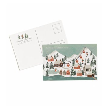 HOLIDAY SNOW SCENE POSTCARDS (10장)