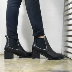 kami et muse Metal ball strap middle heel ankle boots_KM17w146
