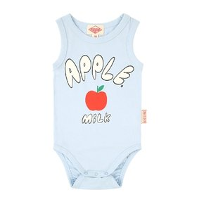 Apple milk baby sleeveless bodysuit