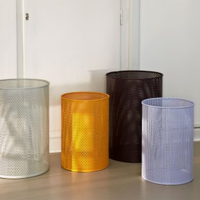 PERFORATED BIN L, LIGHT GREY