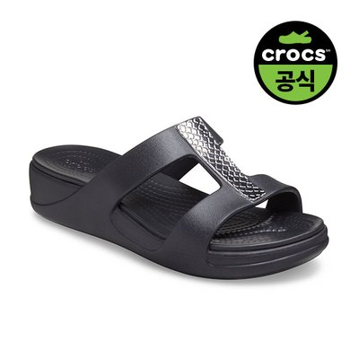 크록스공식 여성 CROCS MONTEREY METALLIC WEDGE W DCH (20SWWD206319)