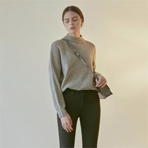OVER MOCK NECK SWEATER_GRAY (4314337)
