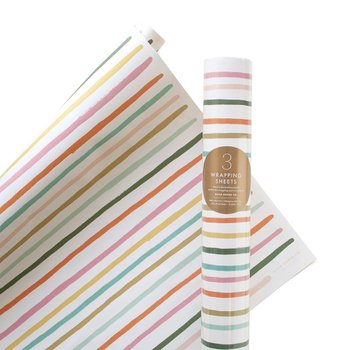 HAPPY STRIPE WRAPPING SHEETS
